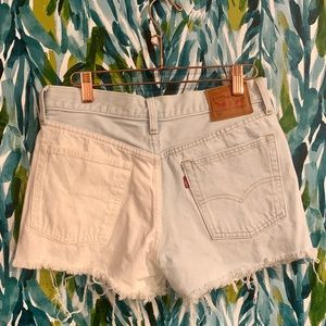 Levi's 501 denim jean shorts